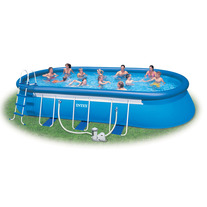 Надувной бассейн Intex Oval Frame Pool Set, 549х305х107 см.